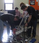 SVGS First Robotics Team works to build their competition robot.