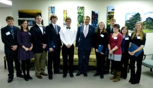 SVGS students participate in Legislative Day at the Virginia Capitol February, 2013.
