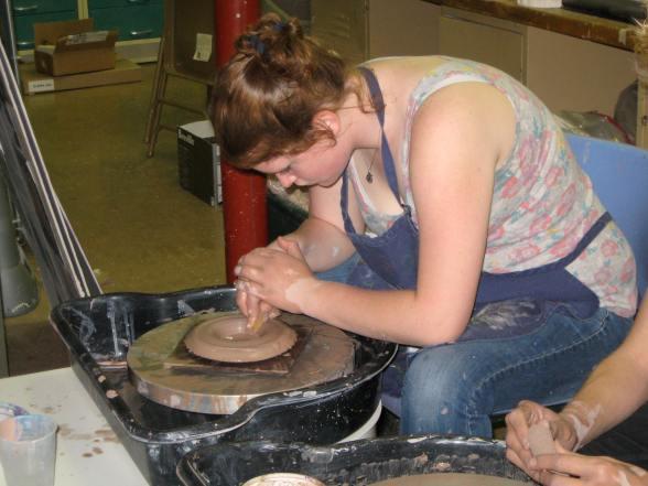 Beth Sweet in Ceramics Class